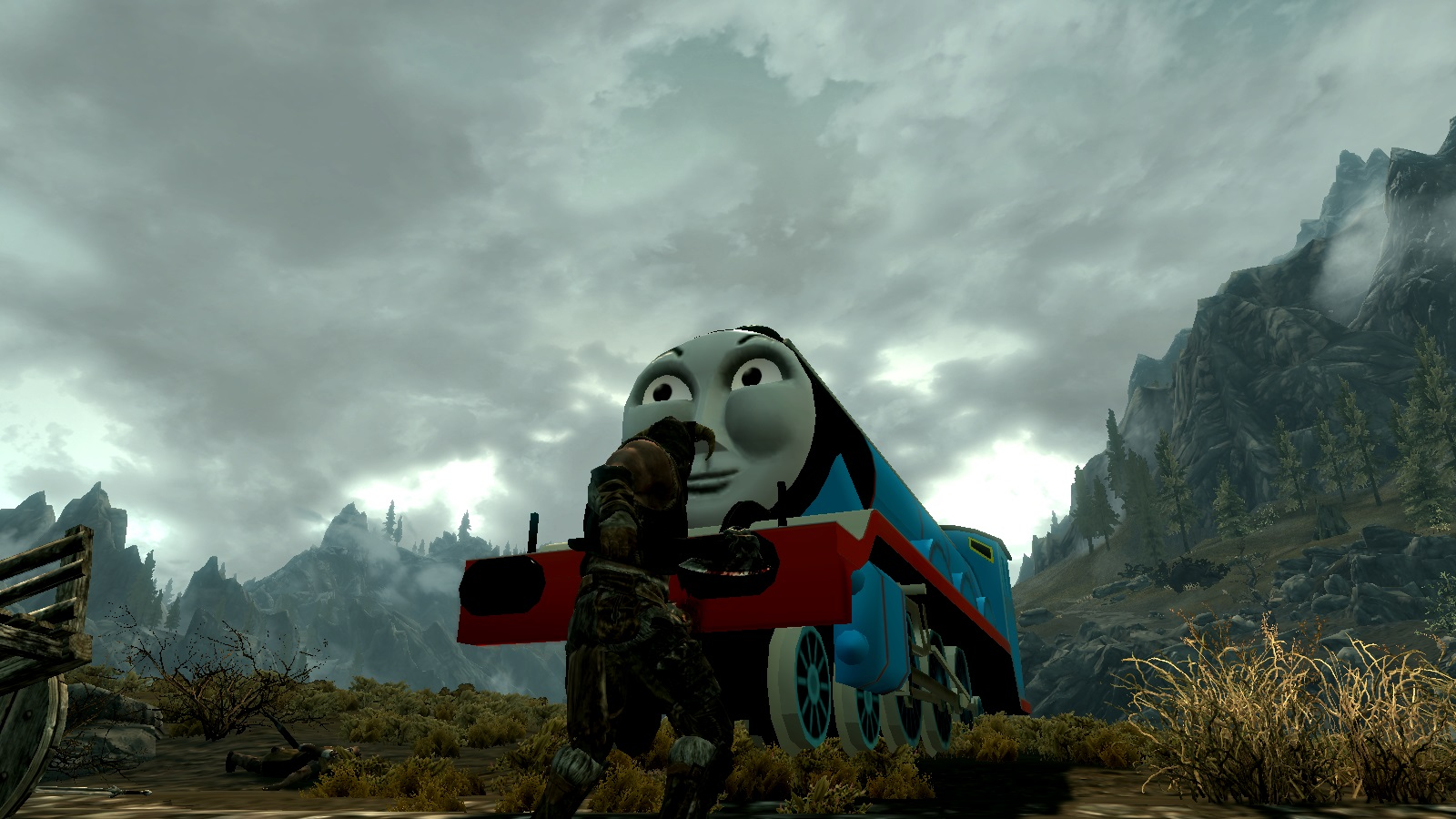 Thomas The Tank Engine, Really Useful Dragons Skyrim Mod
