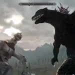 Is He Argonian? Godzilla Comes to Skyrim