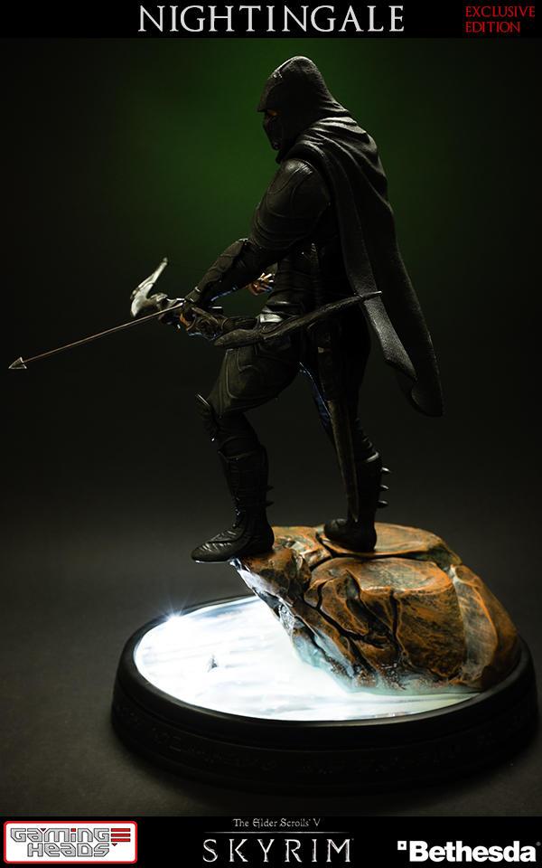 Nightingale Statue With Light