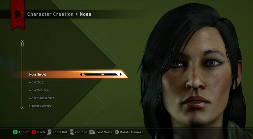 Dragon Age: Inquisition Character Creation